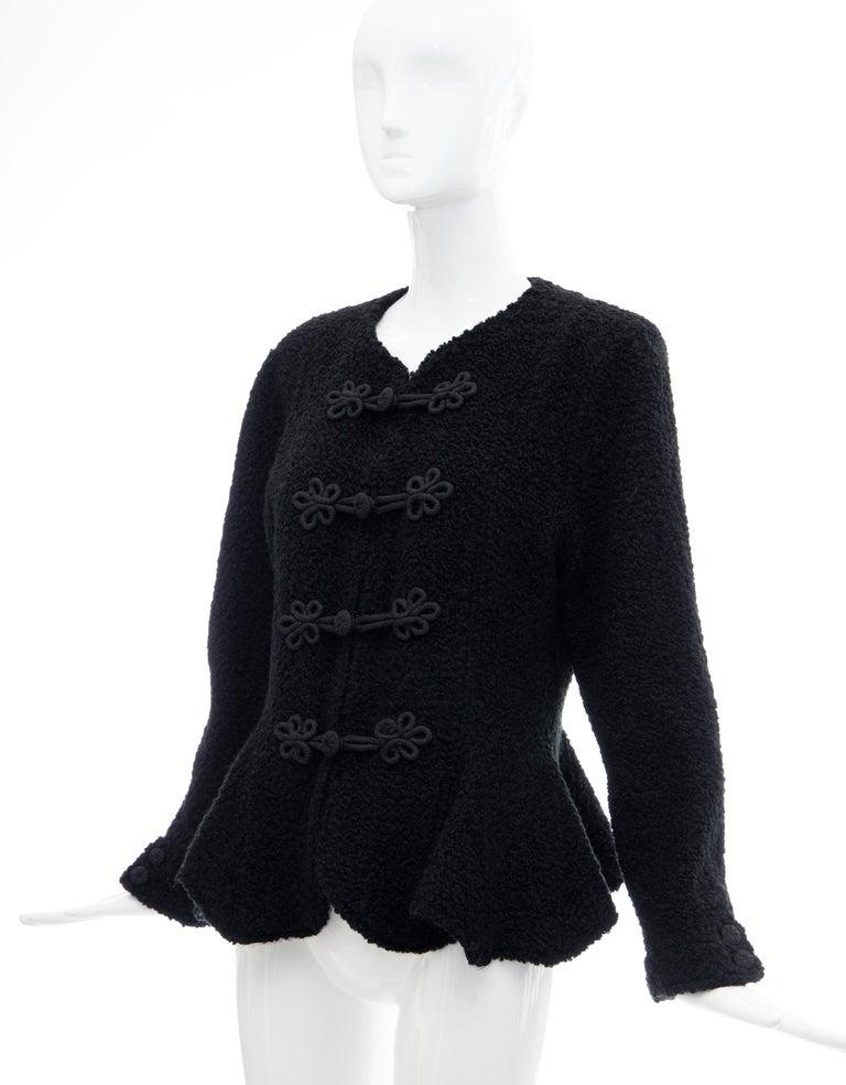 Jean Muir Studio Black Faux Persian Lamb Jacket, Circa: 1980's For Sale 8
