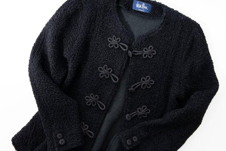 Jean Muir Studio Black Faux Persian Lamb Jacket, Circa: 1980's For Sale 9