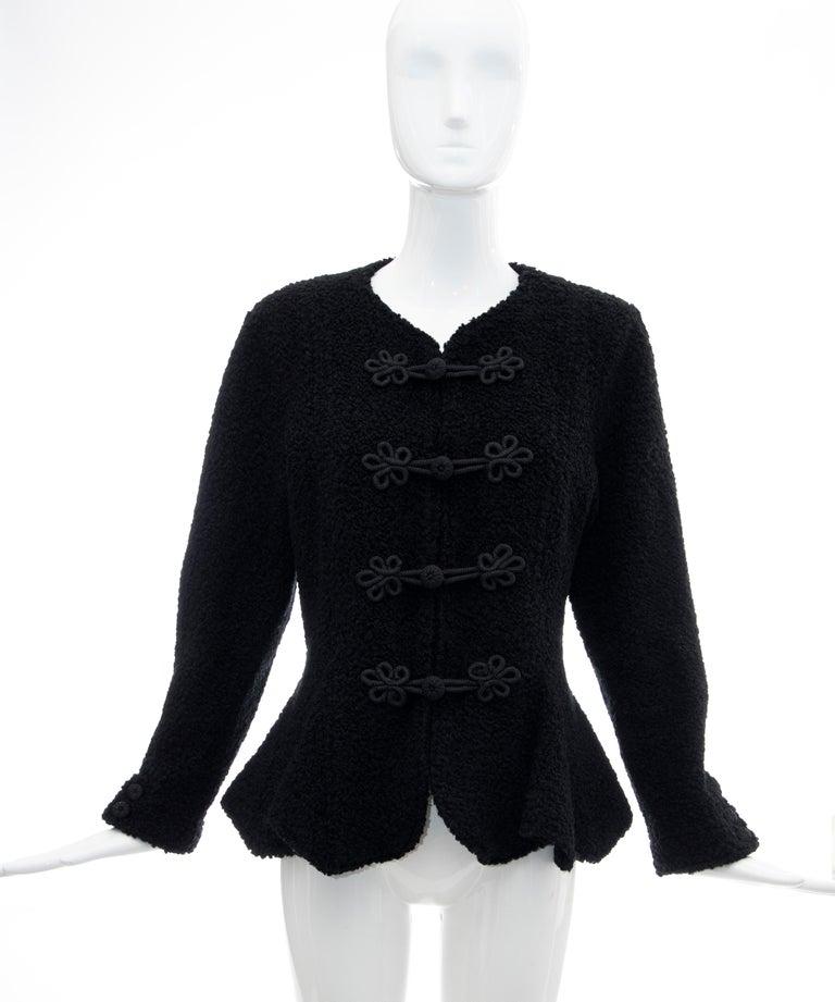 Jean Muir Studio Black Faux Persian Lamb Jacket, Circa: 1980's In Excellent Condition For Sale In Cincinnati, OH