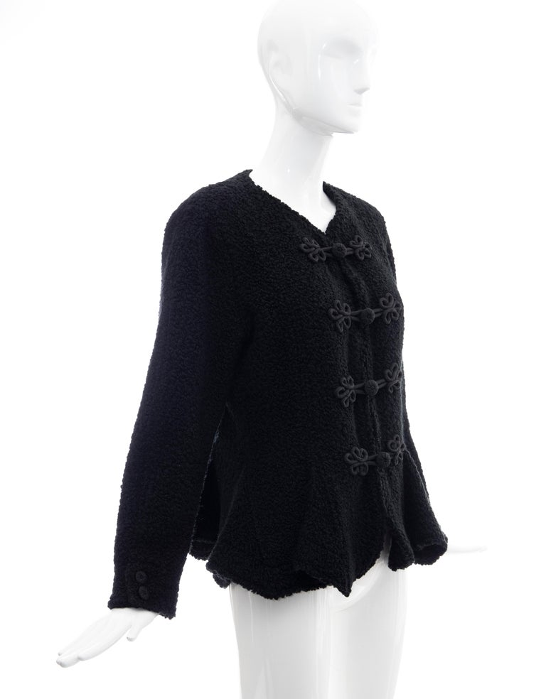 Women's Jean Muir Studio Black Faux Persian Lamb Jacket, Circa: 1980's For Sale
