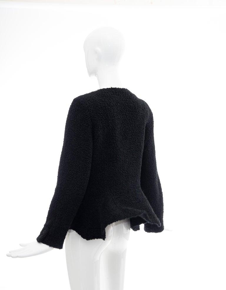 Jean Muir Studio Black Faux Persian Lamb Jacket, Circa: 1980's For Sale 5