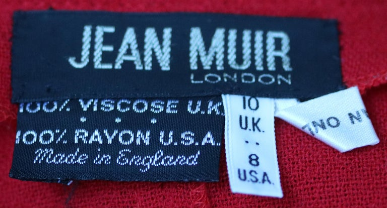 Jean Muir Vintage Crepe Draping Cardigan In Excellent Condition For Sale In London, GB