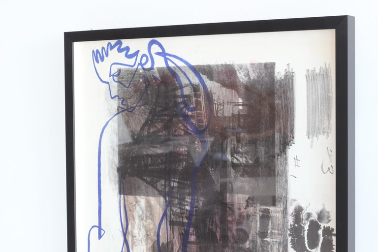 Jean Negulesco Continuous Line Drawing In Good Condition For Sale In Los Angeles, CA