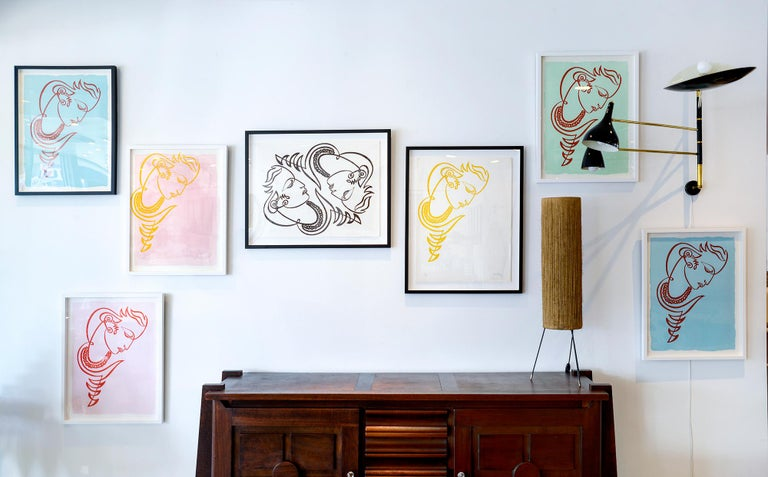 Jean Negulesco Continuous Line Drawing For Sale 1