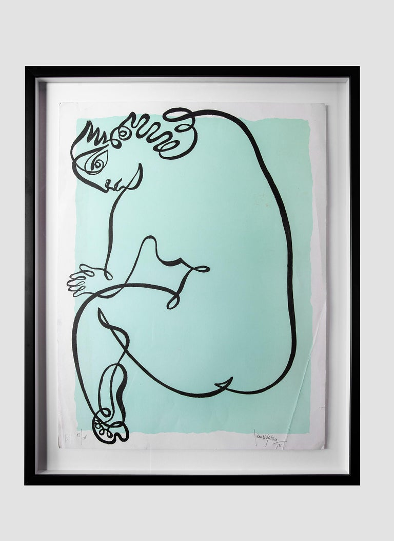 Late 20th Century Jean Negulesco Single Line Drawings For Sale