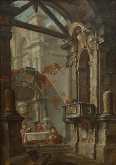 Architectural Capriccio with the Disciples of Emmaus by Jean-Nicolas Servandoni