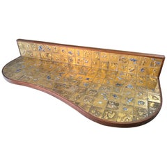 Jean Nison Ceramic Tiled Console Shelf by Weiss & Basser