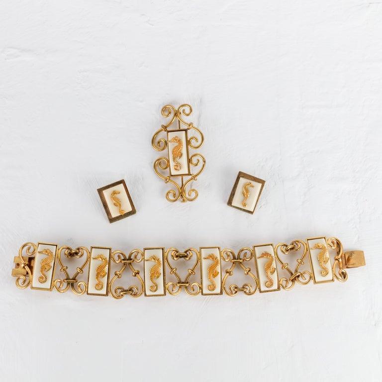 Jean Painlevé Rare Seahorse Jewelry Parure For Sale 5