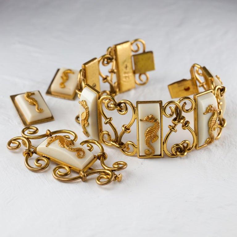Jean Painlevé Rare Seahorse Jewelry Parure For Sale 6