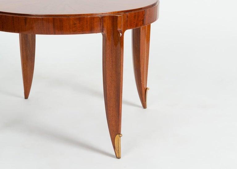 Art Deco Jean Pascaud, Mahogany and Gilt Bronze Coffee Table, France, circa 1935 For Sale