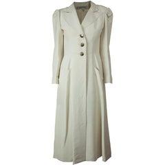 Jean Patou soutane style silk coat, circa 1960s