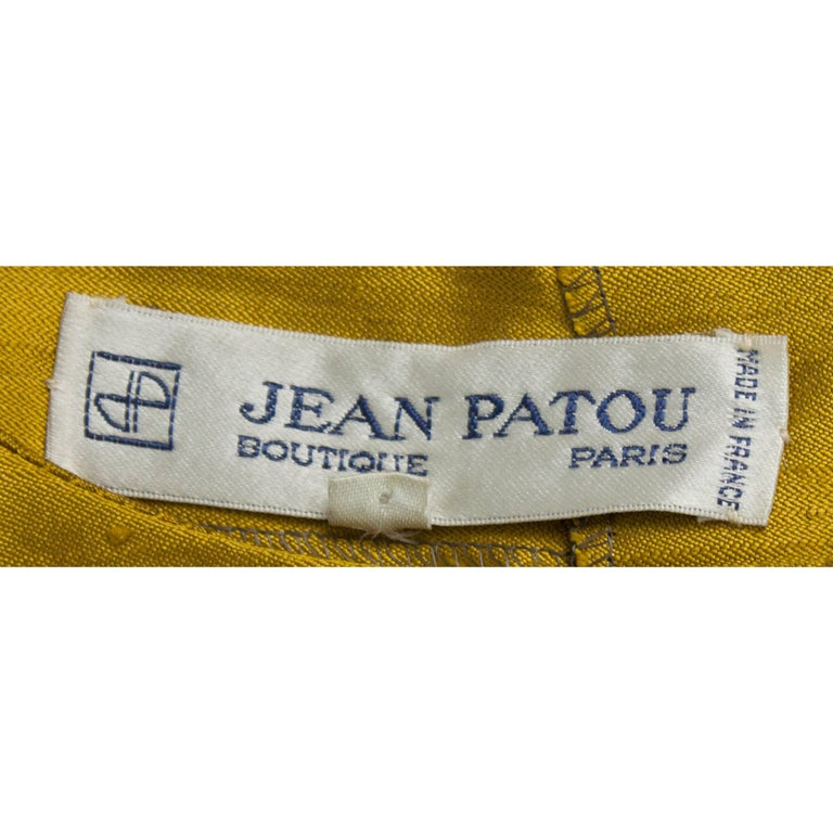 Jean Patou two pieces silk and natural linen skirt evening ensemble, c.1970s For Sale 2