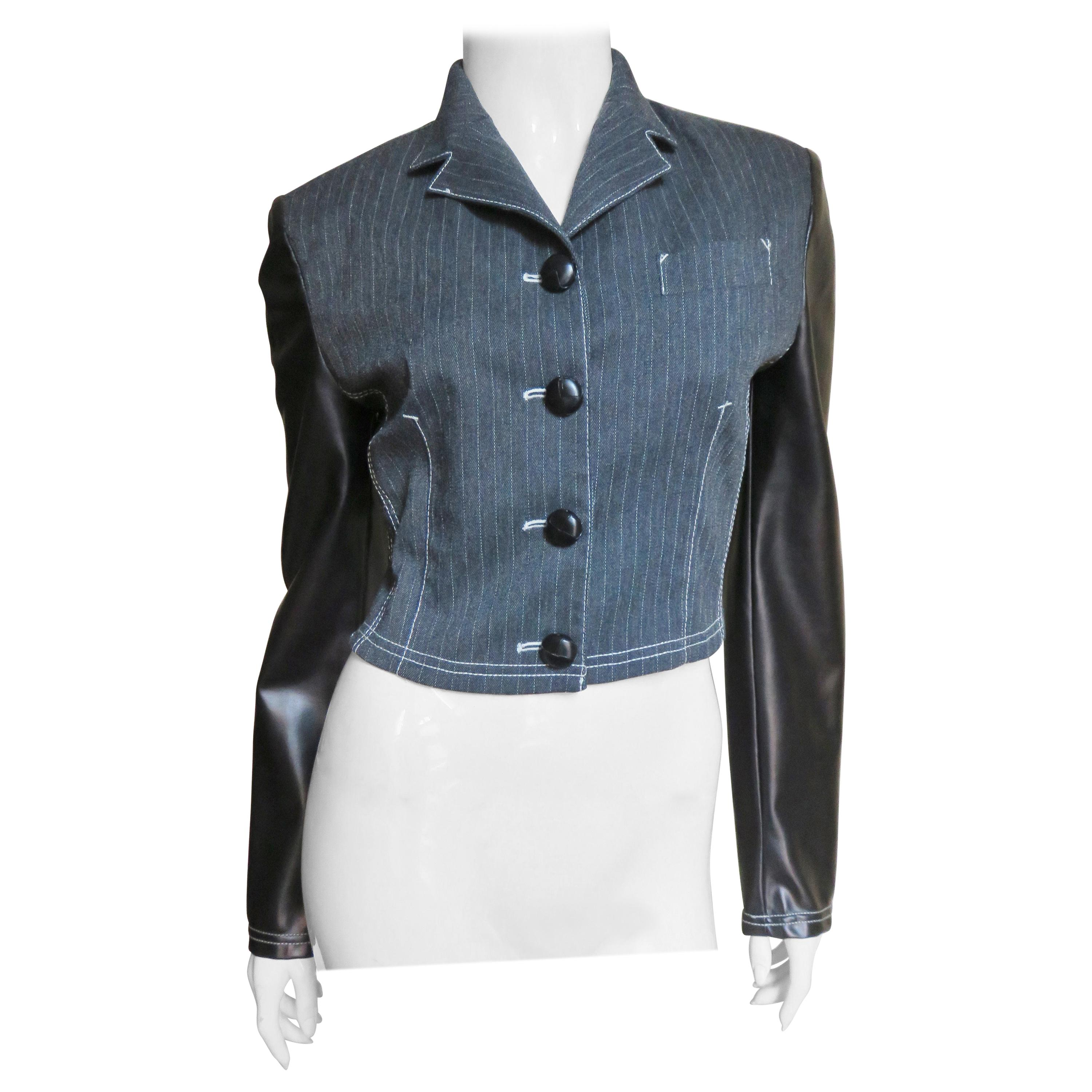 Jean Paul Gaultier 1980s Jacket with Polyurethane Sleeves