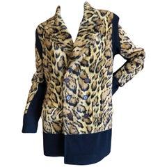 Jean Paul Gaultier 1980's Unisex Plush Faux Leopard Fur Jacket