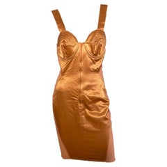 "Jean Paul Gaultier 1989 Iconic ""Cone Bust"" Corset Dress"