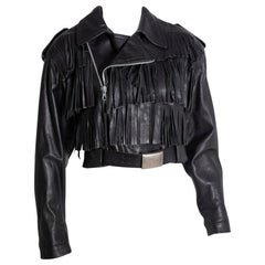 Jean Paul Gaultier 1990's Black Leather Biker Jacket