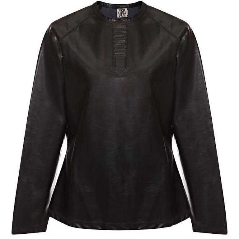 Jean Paul Gaultier 1990s PVC Sweatshirt With Arrow Design