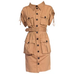 Jean Paul Gaultier 1990s Safari Khaki Dress