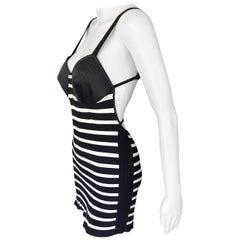 Jean Paul Gaultier 1990's Vintage Cone Bra Bodycon Open Back Mini Dress