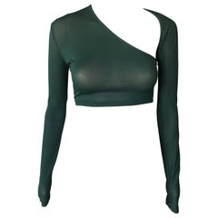 Jean Paul Gaultier 1990's Vintage Sheer Crop Top
