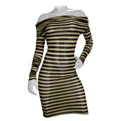 Jean Paul Gaultier 2003 Stripped Mesh Dress