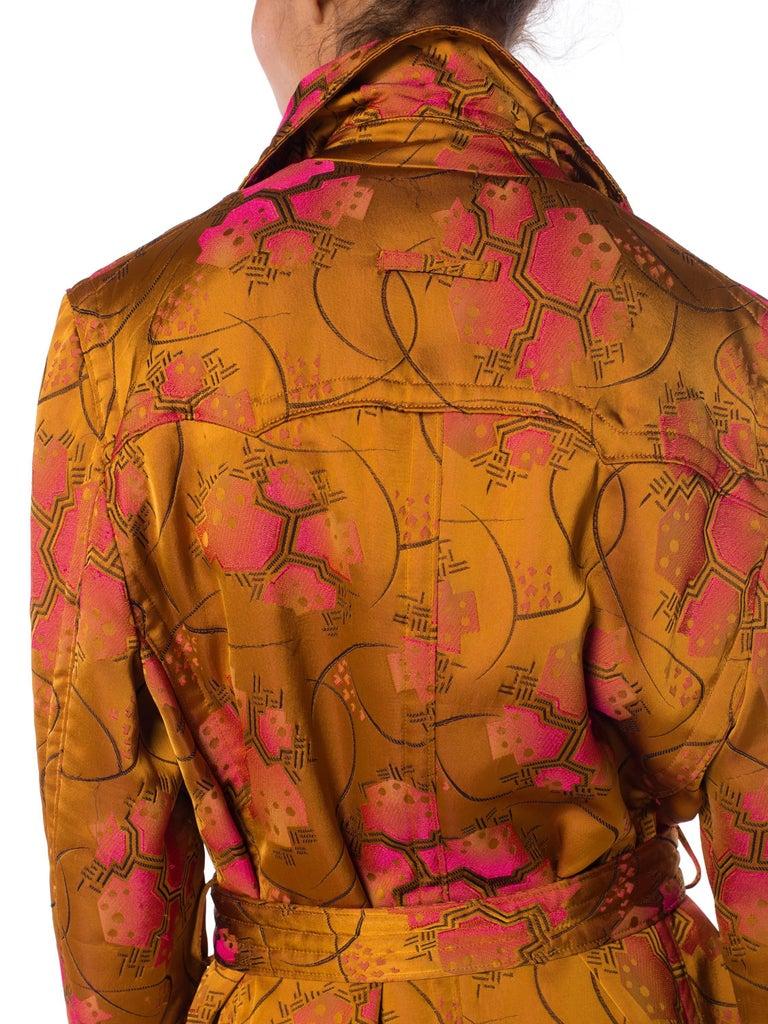 Jean Paul Gaultier Art-Deco Textile Trench Coat For Sale 6