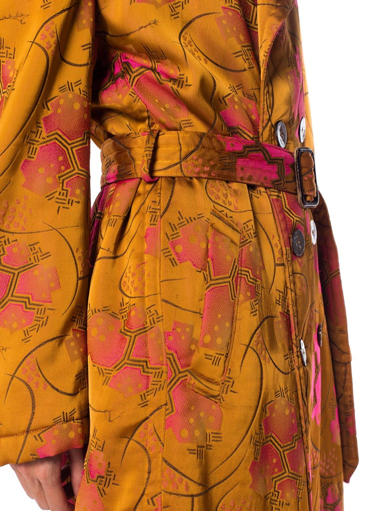 Jean Paul Gaultier Art-Deco Textile Trench Coat In Excellent Condition For Sale In New York, NY