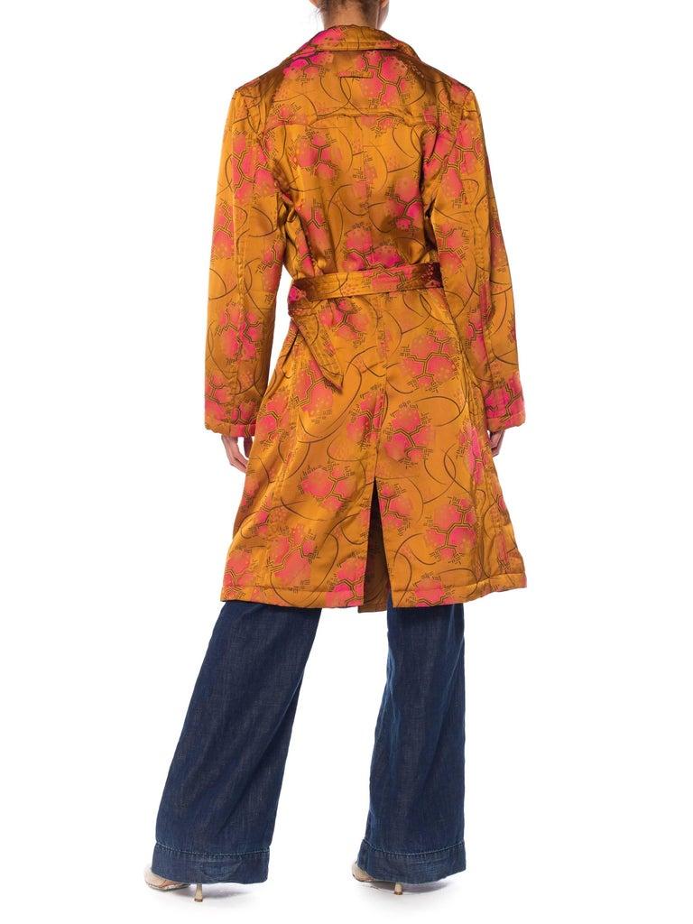 Women's Jean Paul Gaultier Art-Deco Textile Trench Coat For Sale