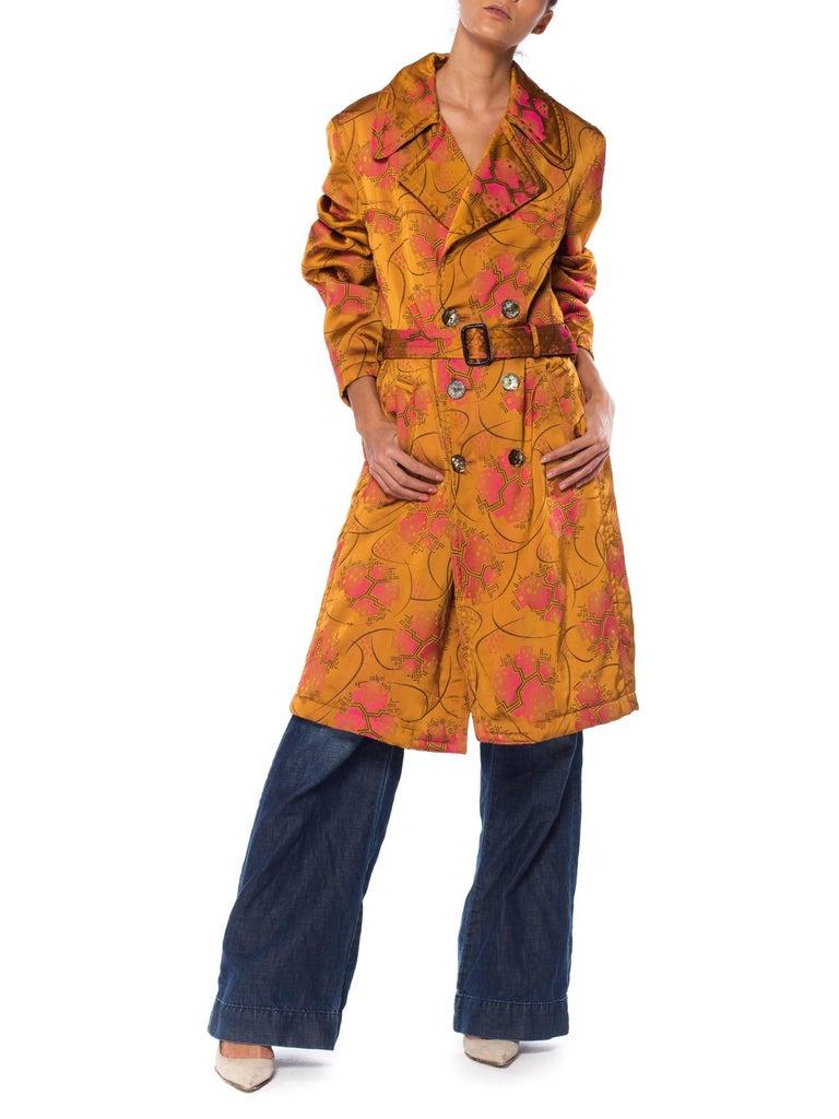 Jean Paul Gaultier Art-Deco Textile Trench Coat For Sale 1