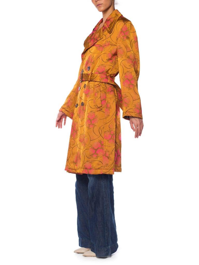 Jean Paul Gaultier Art-Deco Textile Trench Coat For Sale 2