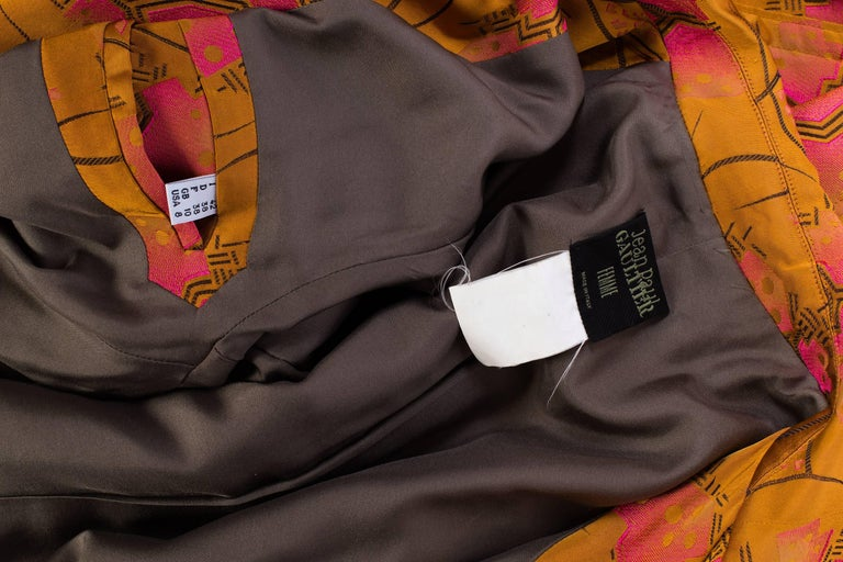 Jean Paul Gaultier Art-Deco Textile Trench Coat For Sale 3