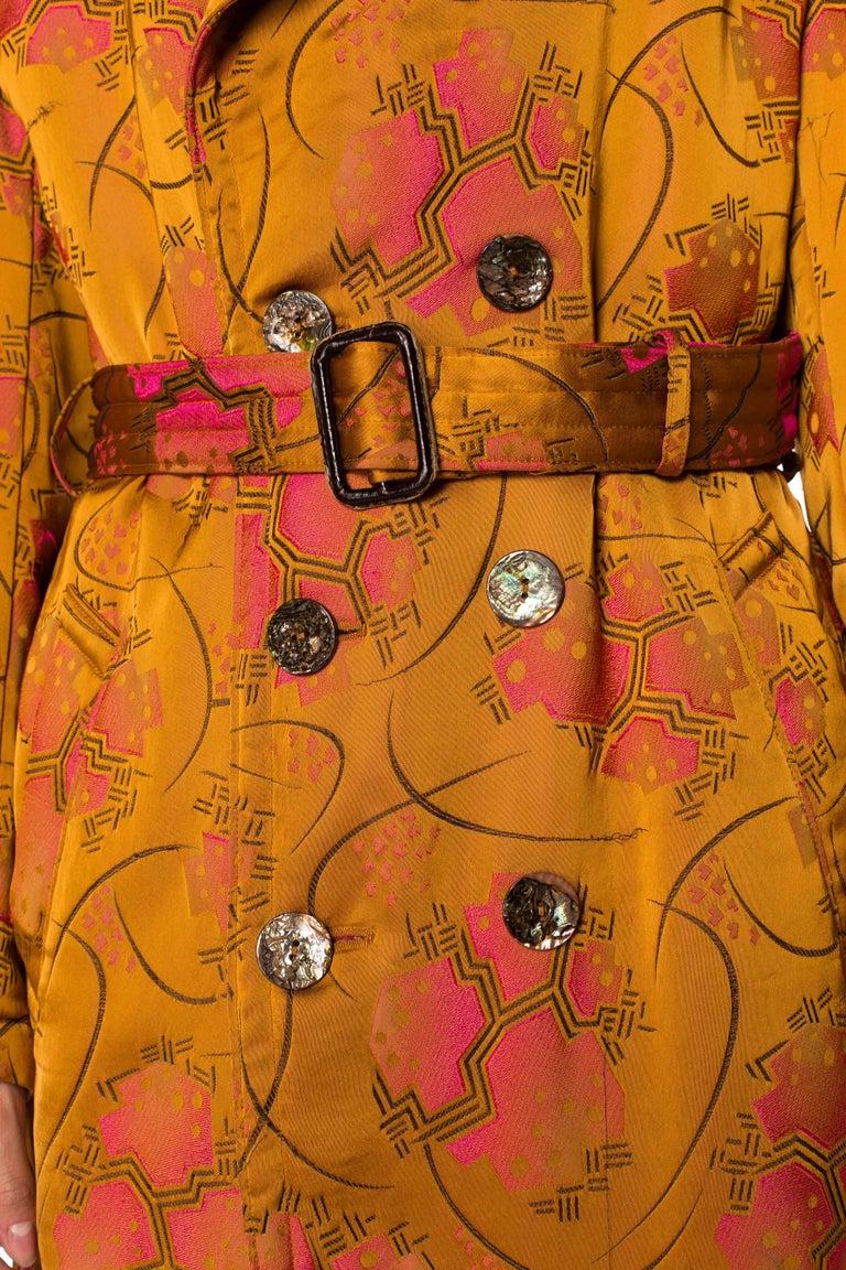 Jean Paul Gaultier Art-Deco Textile Trench Coat For Sale 4