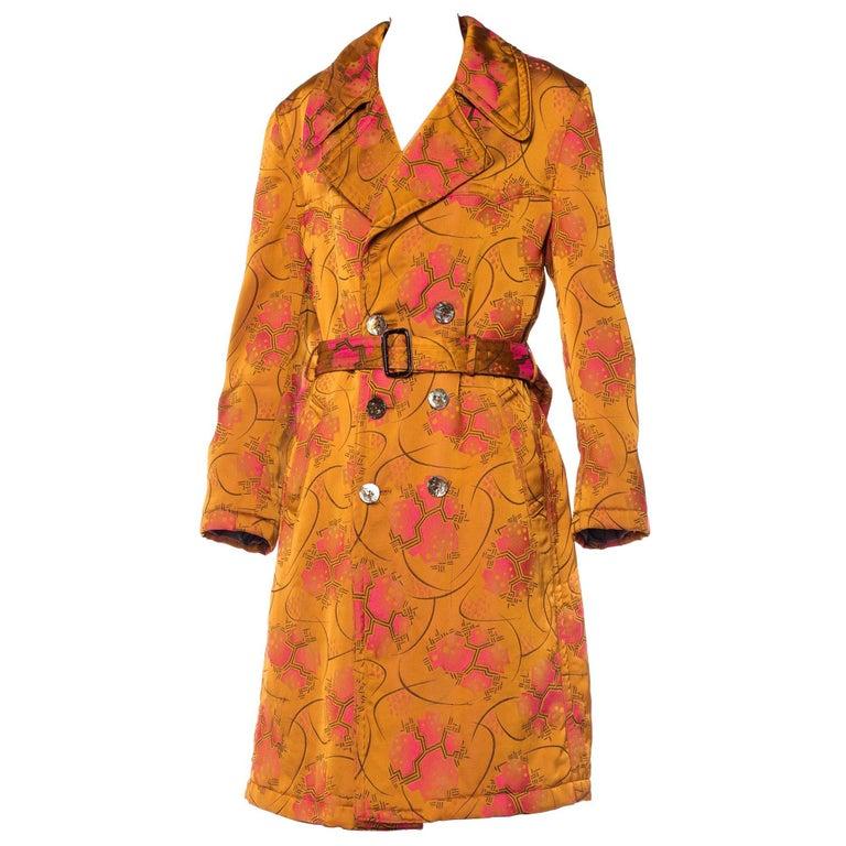 Jean Paul Gaultier Art-Deco Textile Trench Coat For Sale
