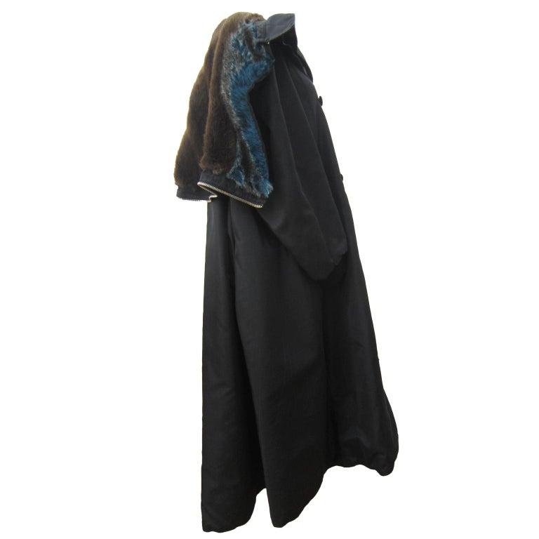 Jean Paul Gaultier Black Bomber Jacket Coat 1980s In Good Condition For Sale In Berlin, DE