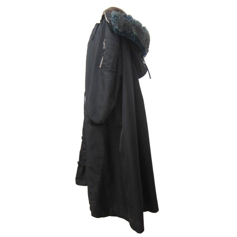 Jean Paul Gaultier Black Bomber Jacket Coat 1980s For Sale 1
