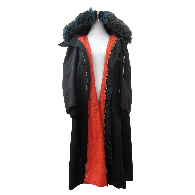 Jean Paul Gaultier Black Bomber Jacket Coat 1980s For Sale