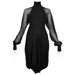 Jean Paul Gaultier Black Illusion Sleeve Dress