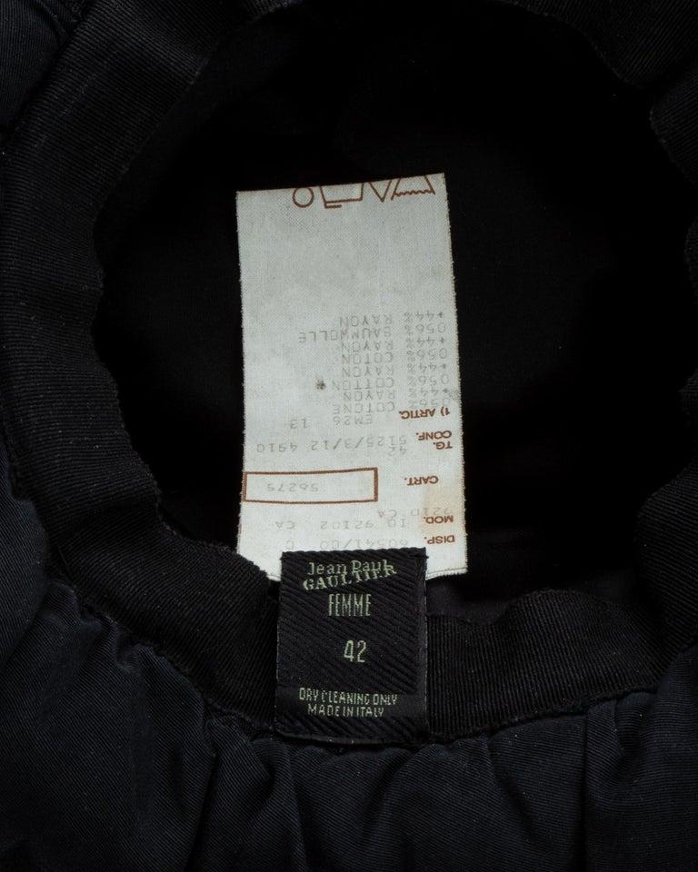Jean Paul Gaultier black oversized puffer trapper hat, fw 1993 For Sale 6