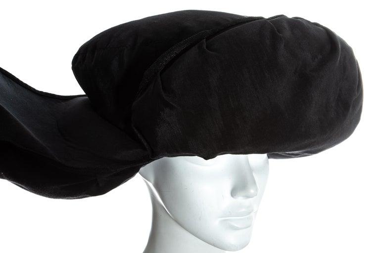 Jean Paul Gaultier black oversized puffer trapper hat, fw 1993 For Sale 2