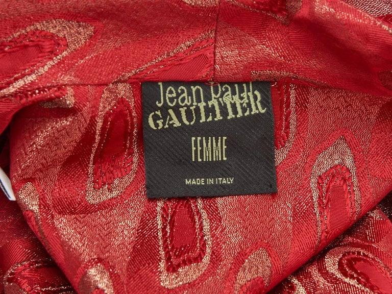 Jean Paul Gaultier Brocade Belted Kimono Inspired Coat For Sale 1