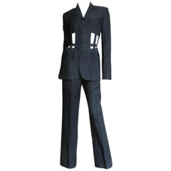Jean Paul Gaultier Cage Corset Jacket Pant Suit S/S 1989