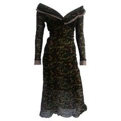 Jean Paul Gaultier Classic Camouflage Long Dress