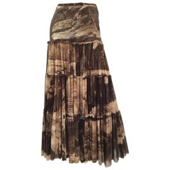 Jean Paul Gaultier Classique Brown Fuzzi Knit Skirt