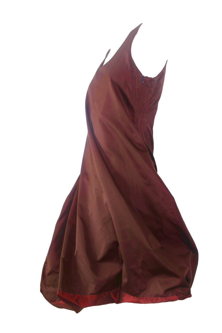 Jean Paul Gaultier Classique Label Bronze Satin Balloon Dress Spring/Summer 2003 For Sale 5