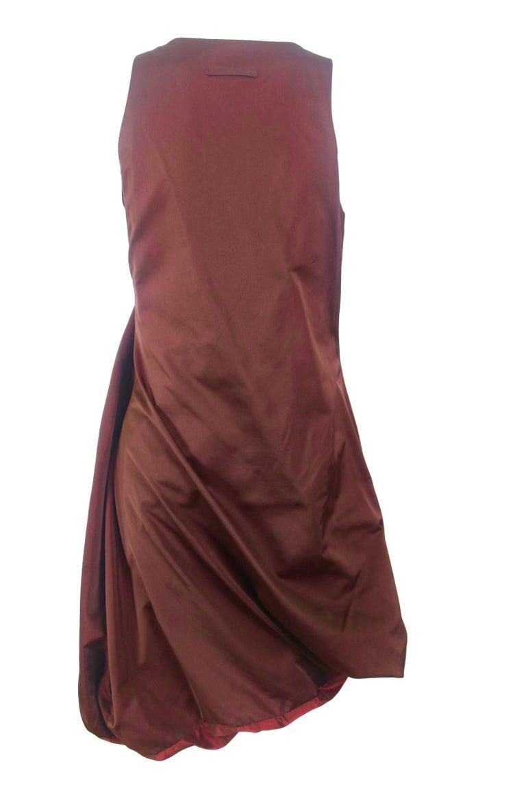Jean Paul Gaultier Classique Label Bronze Satin Balloon Dress Spring/Summer 2003 For Sale 7