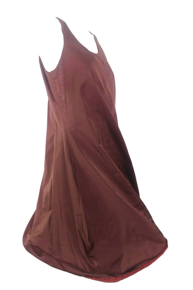 Jean Paul Gaultier Classique Label Bronze Satin Balloon Dress Spring/Summer 2003 For Sale 8
