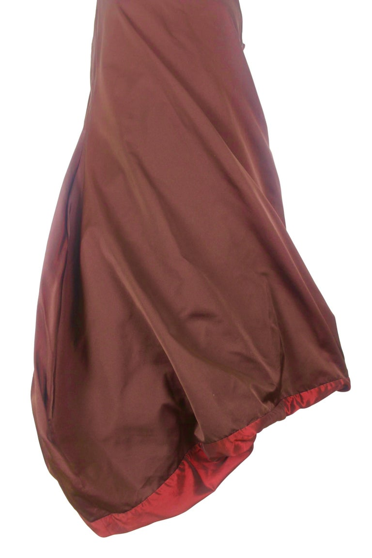 Jean Paul Gaultier Classique Label Bronze Satin Balloon Dress Spring/Summer 2003 For Sale 9