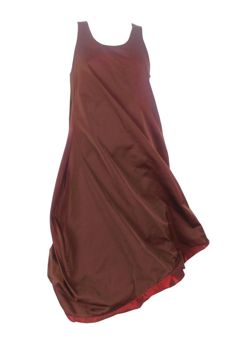 Jean Paul Gaultier Classique Label Bronze Satin Balloon Dress Spring/Summer 2003 For Sale 10