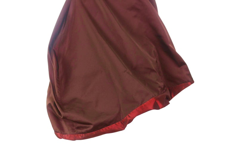 Jean Paul Gaultier Classique Label Bronze Satin Balloon Dress Spring/Summer 2003 For Sale 11