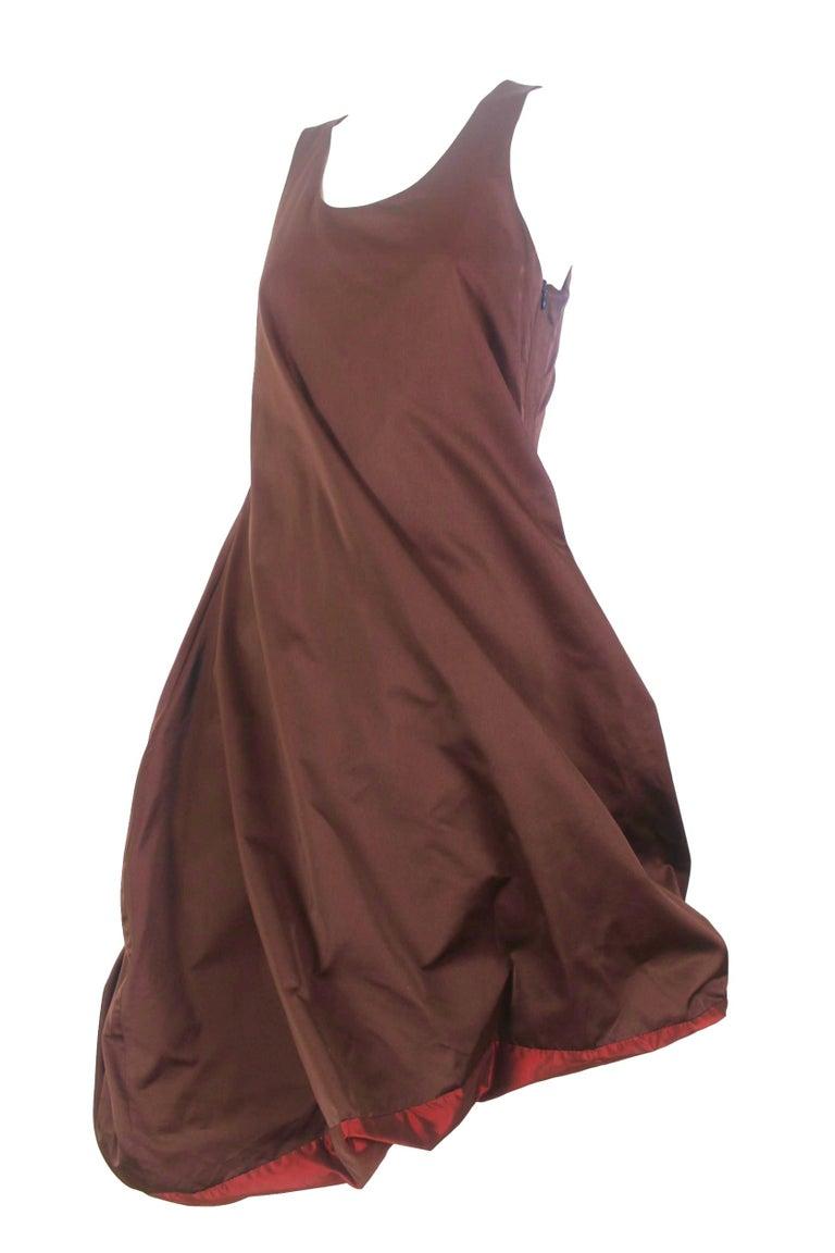 Jean Paul Gaultier Classique Label Bronze Satin Balloon Dress Spring/Summer 2003 For Sale 12